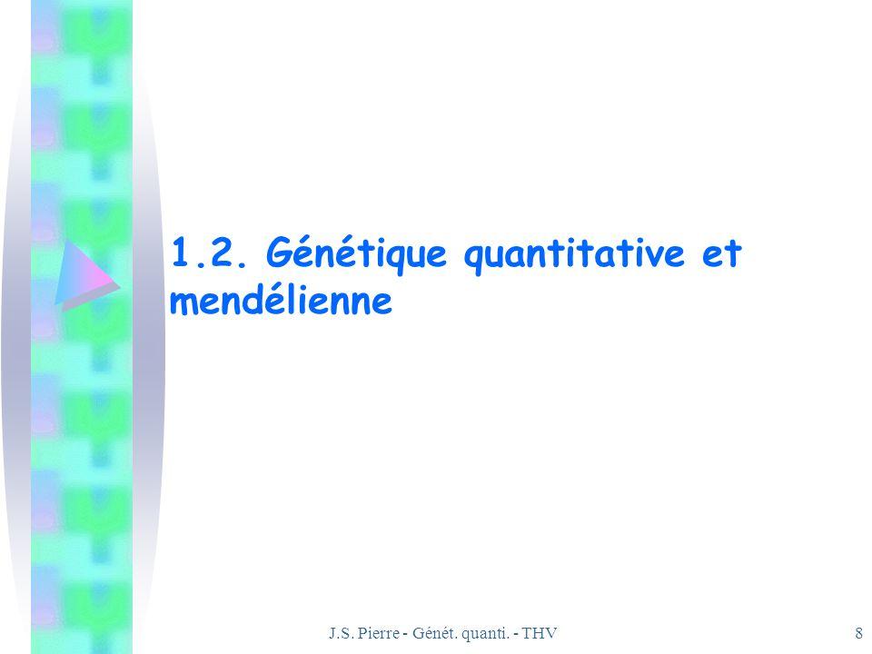 J.S. Pierre - Génét. quanti. - THV8 1.2. Génétique quantitative et mendélienne