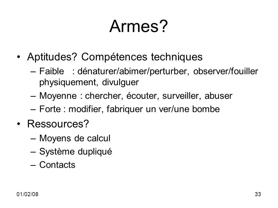 01/02/0833 Armes. Aptitudes.