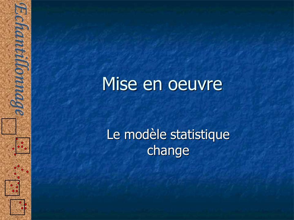 Mise en oeuvre Le modèle statistique change