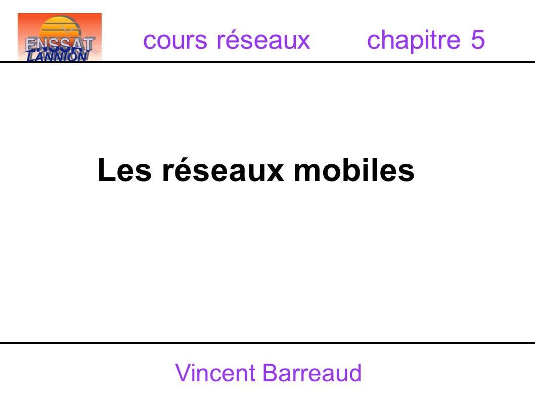 Vincent Barreaud Les réseaux mobiles cours réseaux chapitre 5