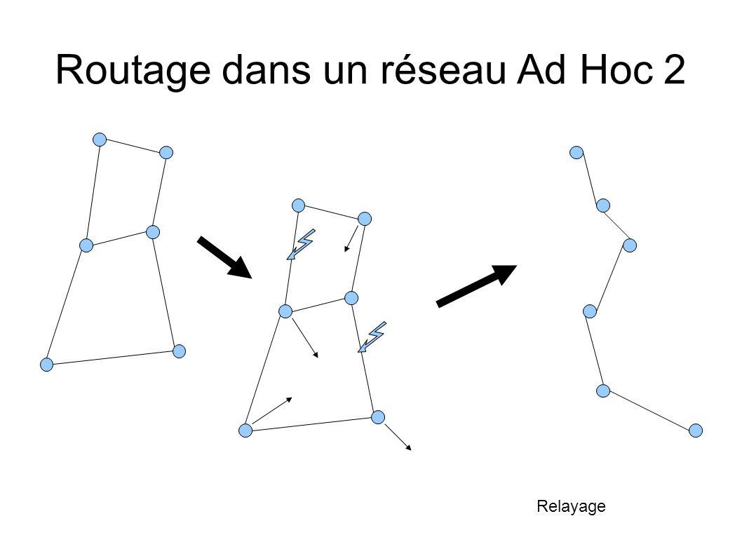 Routage dans un réseau Ad Hoc 2 Relayage