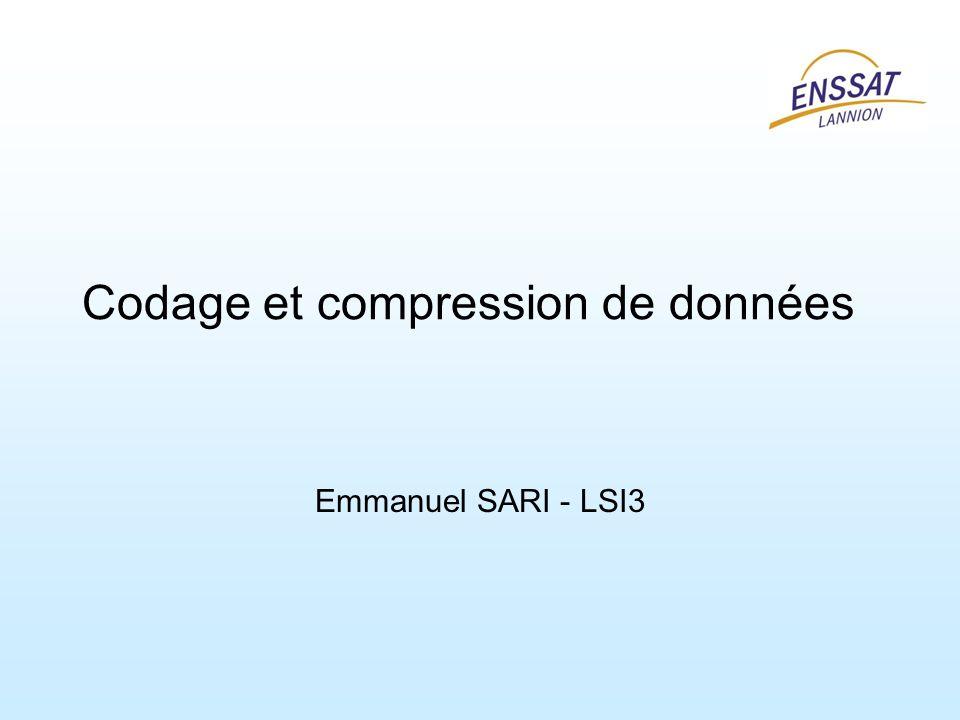 Codage et compression de données Emmanuel SARI - LSI3