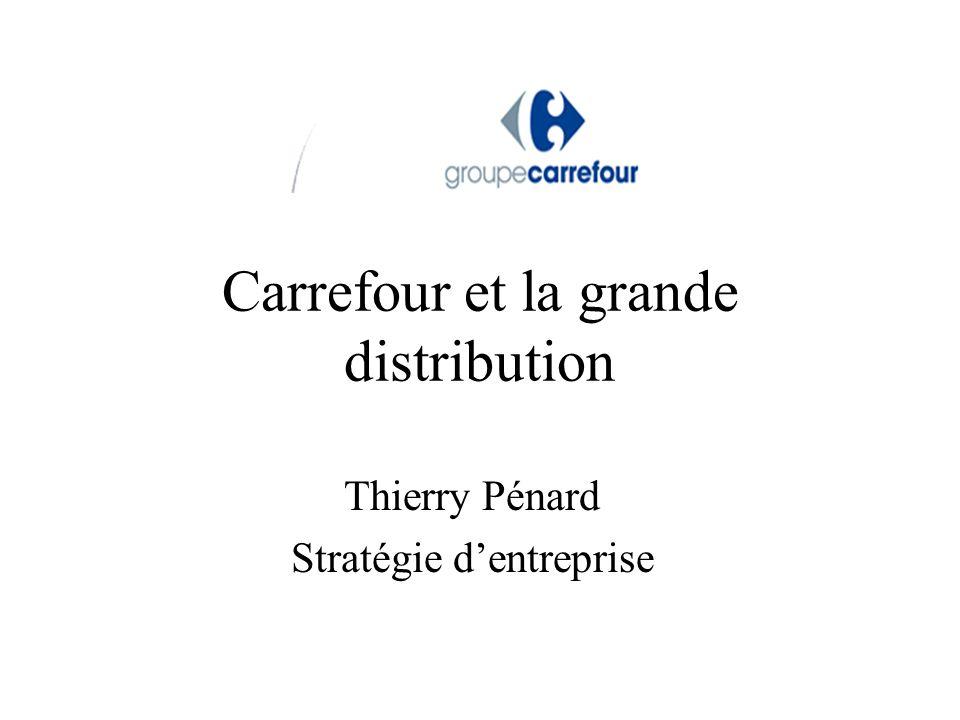 Les enseignes du groupe Carrefour Hypermarchés (1 302 magasins fin 2008 ) : Carrefour –60% environ des salariés ; + de 50% du CA Supermarchés (2 919 magasins) : Champion ou Carrefour Market –20% environ des salariés –N°2 en France derrière Magasin U Maxidiscompte (6 255 magasins) : Dia, Ed Proximité (4 813 Supérettes dont 71% franchisés) : Shopi, MarchéPlus, 8àHuit, Proxi, Carrefour City 129 magasins de gros pour professionnel : Promocash Une partie des magasins détenus par des franchisés –essentiellement les supermarchés et supérettes