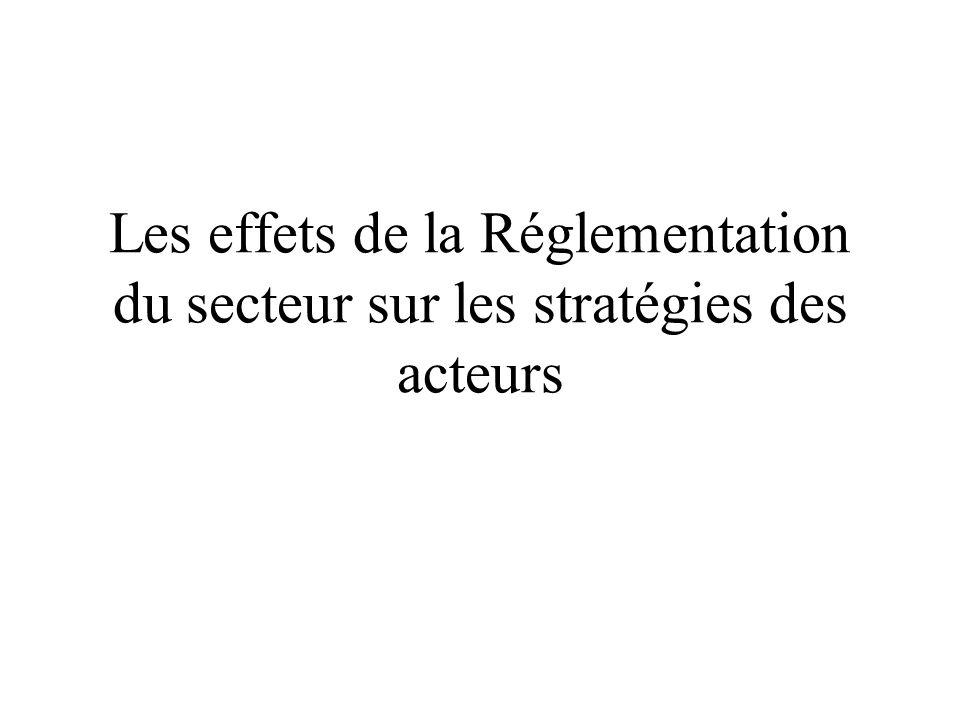 Les effets de la Réglementation du secteur sur les stratégies des acteurs