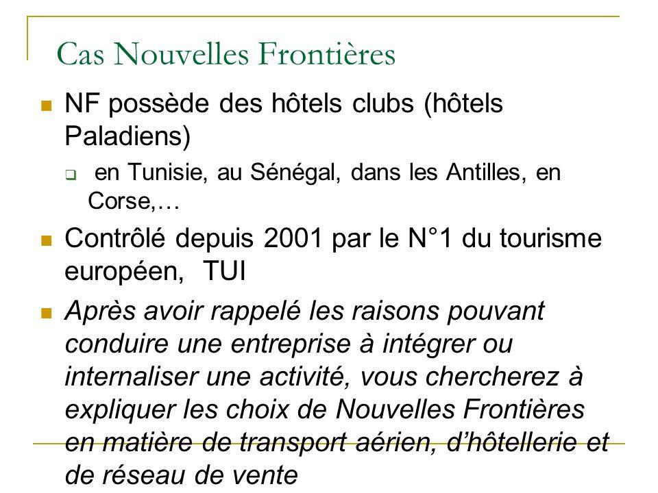NF possède des hôtels clubs (hôtels Paladiens) en Tunisie, au Sénégal, dans les Antilles, en Corse,… Contrôlé depuis 2001 par le N°1 du tourisme europ
