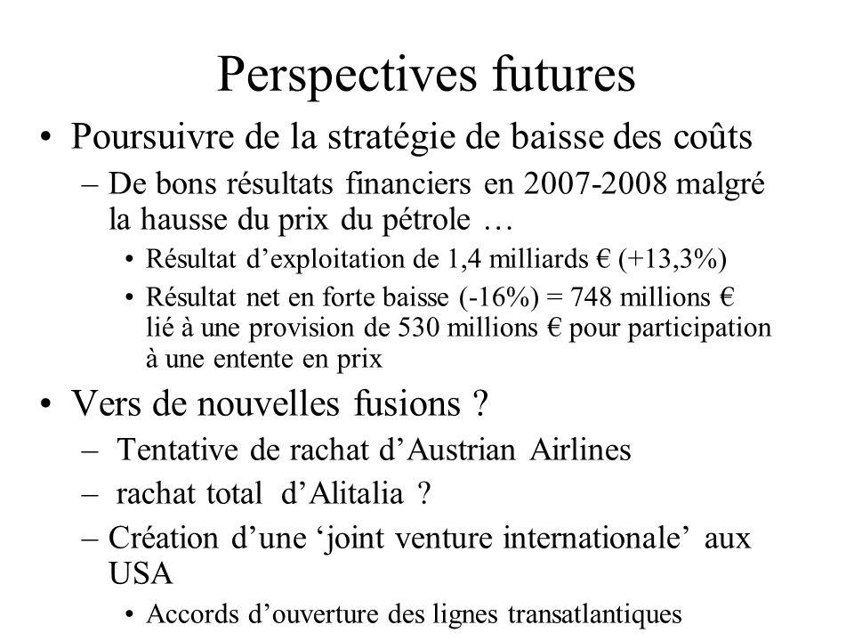 Perspectives futures Poursuivre de la stratégie de baisse des coûts –De bons résultats financiers en 2007-2008 malgré la hausse du prix du pétrole … R