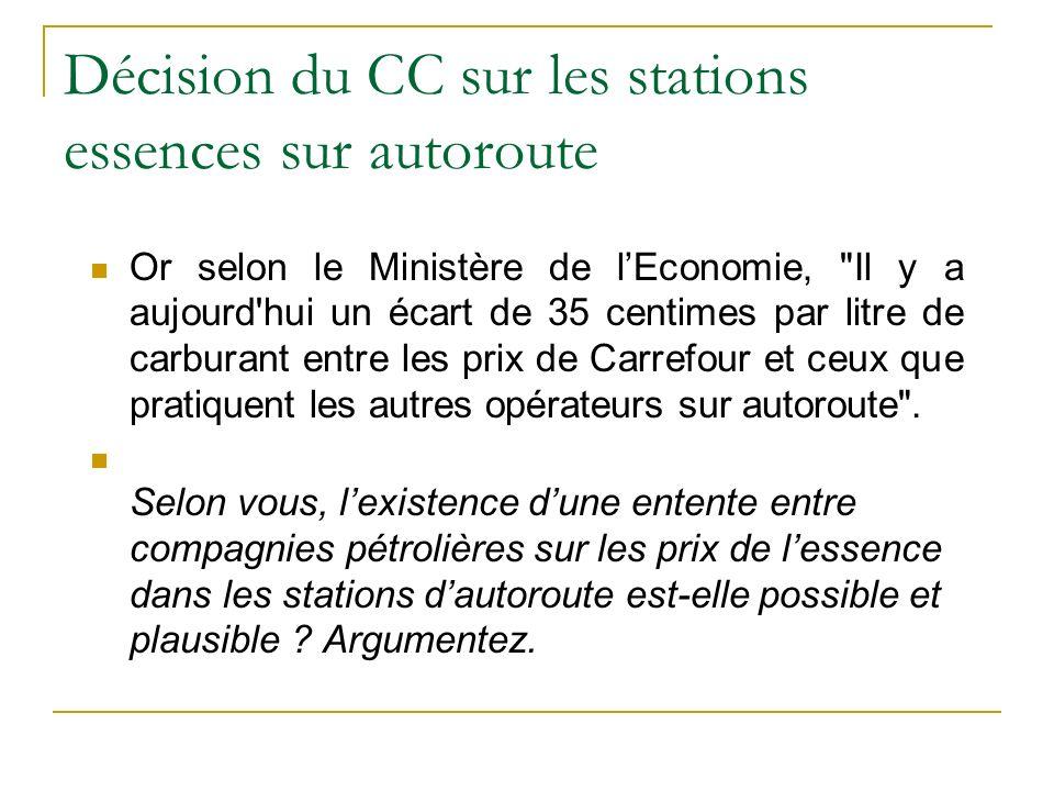 Décision du CC sur les stations...