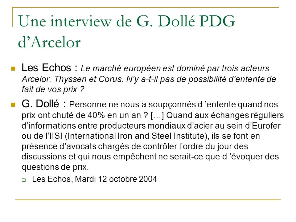 Une interview de G.