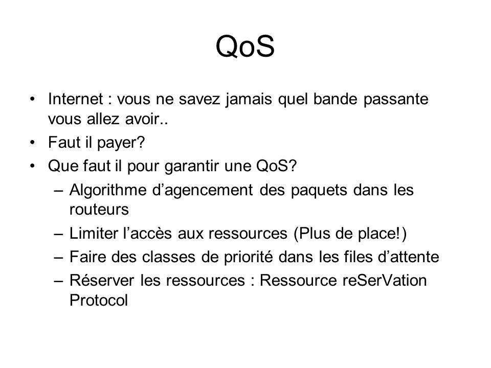 QoS Internet : vous ne savez jamais quel bande passante vous allez avoir..