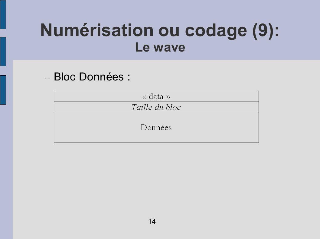 Bloc Données : Numérisation ou codage (9): Le wave 14