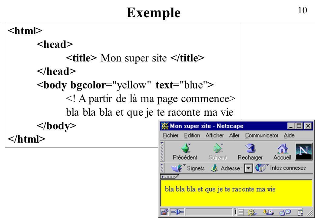 10 Exemple Mon super site bla bla bla et que je te raconte ma vie