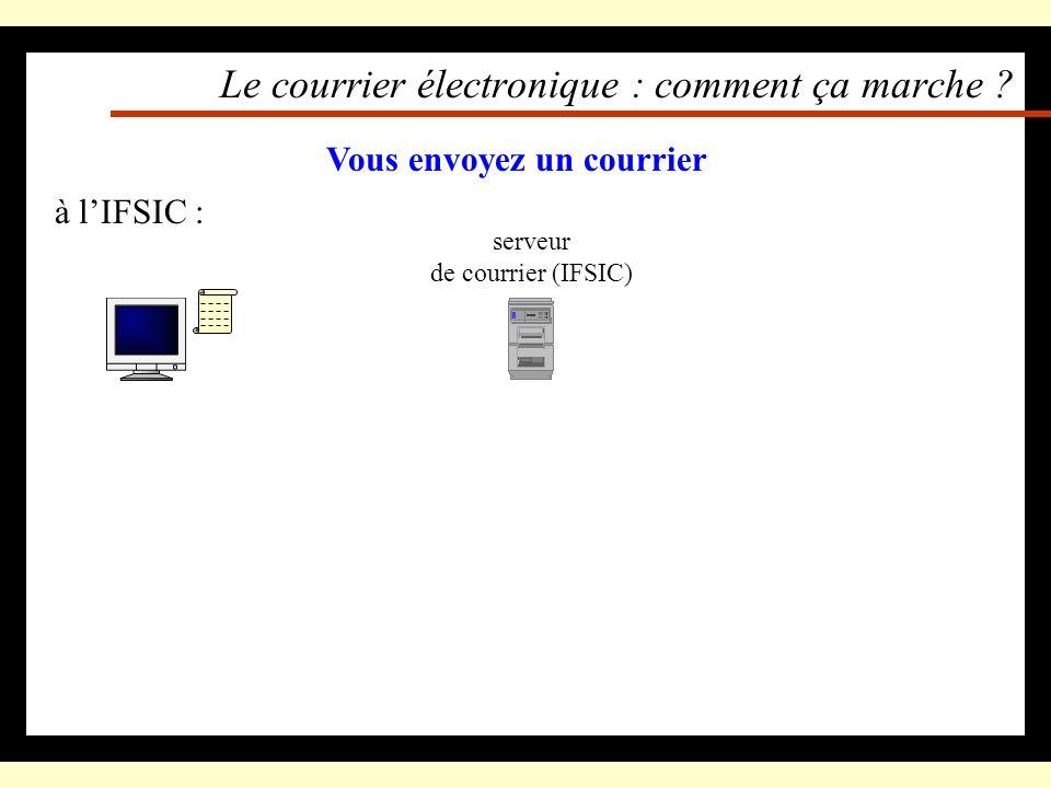 Le courrier électronique (mail) On lit et on poste son courrier avec Netscape –(préconfiguré à la création du compte) Il est hébergé par un serveur (d