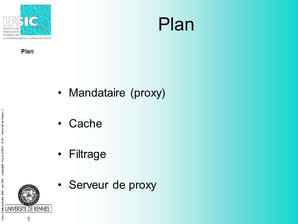 Cours d administration Web - juin 2001 - Copyright© Pascal AUBRY - IFSIC - Université de Rennes 1 Mandataires, caches et filtres Pascal AUBRY IFSIC - Université de Rennes 1 Pascal.Aubry@univ-rennes1.fr