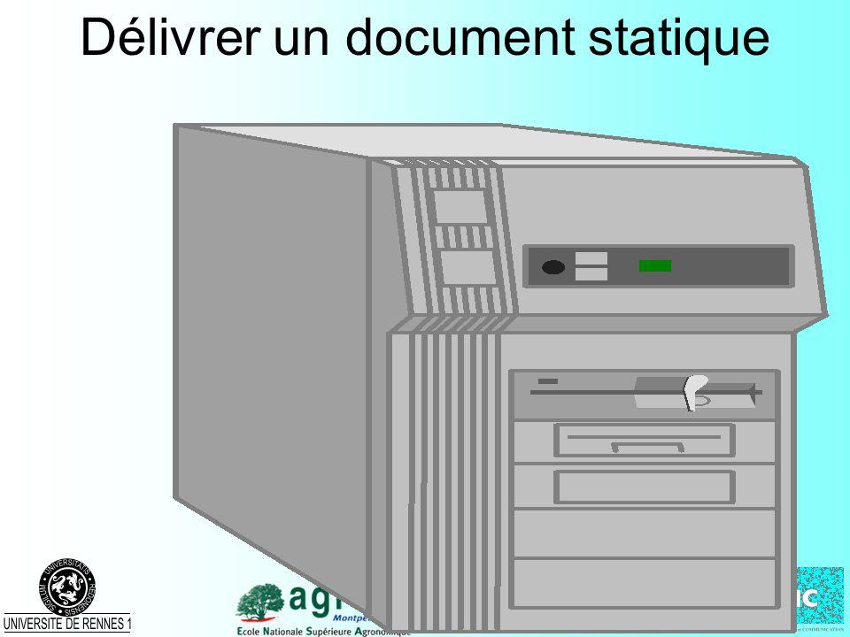 Solution 3 : les sessions Affectation dun ID unique –pour chaque visiteur non connu (sans ID) –de forme aléatoire Liaison (identifiant - données sur le serveur) –stockage mémoire, disque, base de données,...