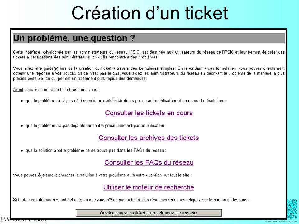 Création dun ticket