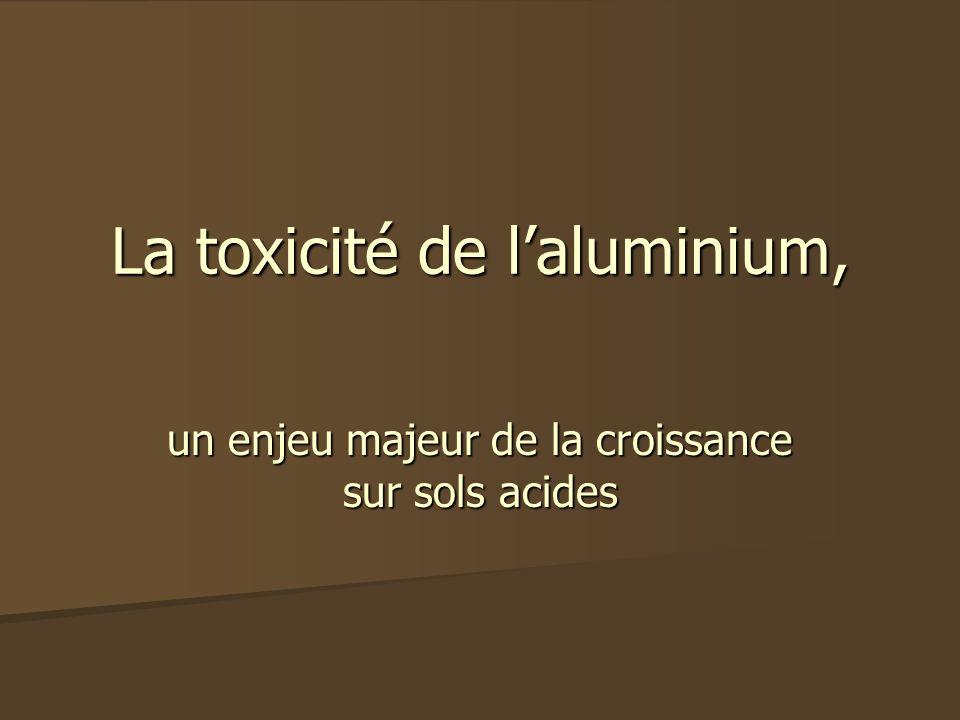 La toxicité de laluminium, un enjeu majeur de la croissance sur sols acides