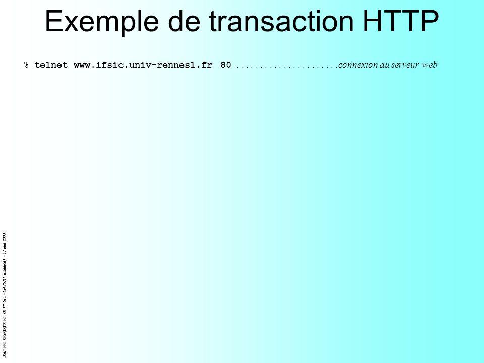 Journées pédagogiques de l IFSIC - ENSSAT (Lannion) - 17 juin 2003 Entrées des formulaires HTML Boutons daction – Entrées textuelles – Boites de saisie – texte...