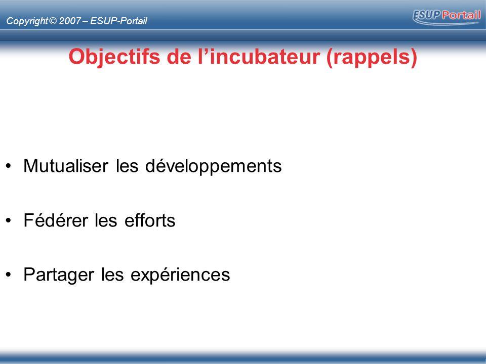 Copyright © 2007 – ESUP-Portail Esup-chat Type –Portlet Description –Lancement dun client Jabber à partir du portail Responsible –Jean-Marie Kubek (Montpellier 2)