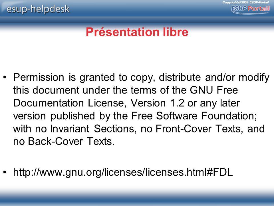 Copyright © 2008 ESUP-Portail Autres changements Courriers électroniques Services web