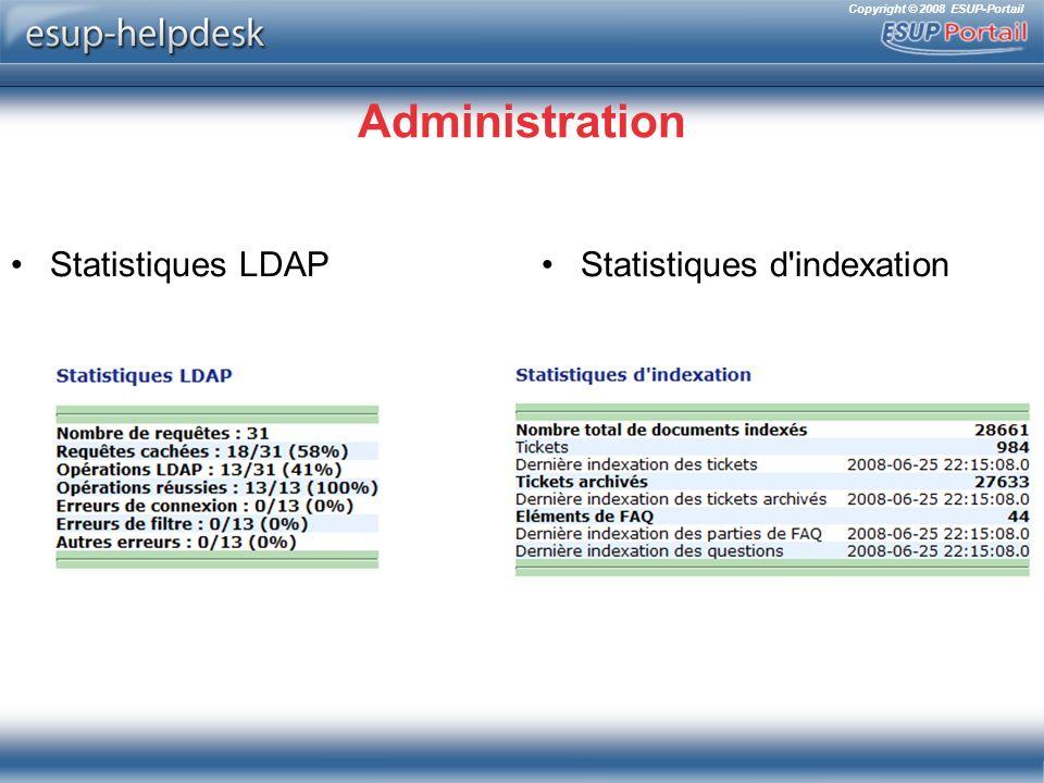 Copyright © 2008 ESUP-Portail Administration Statistiques LDAPStatistiques d indexation