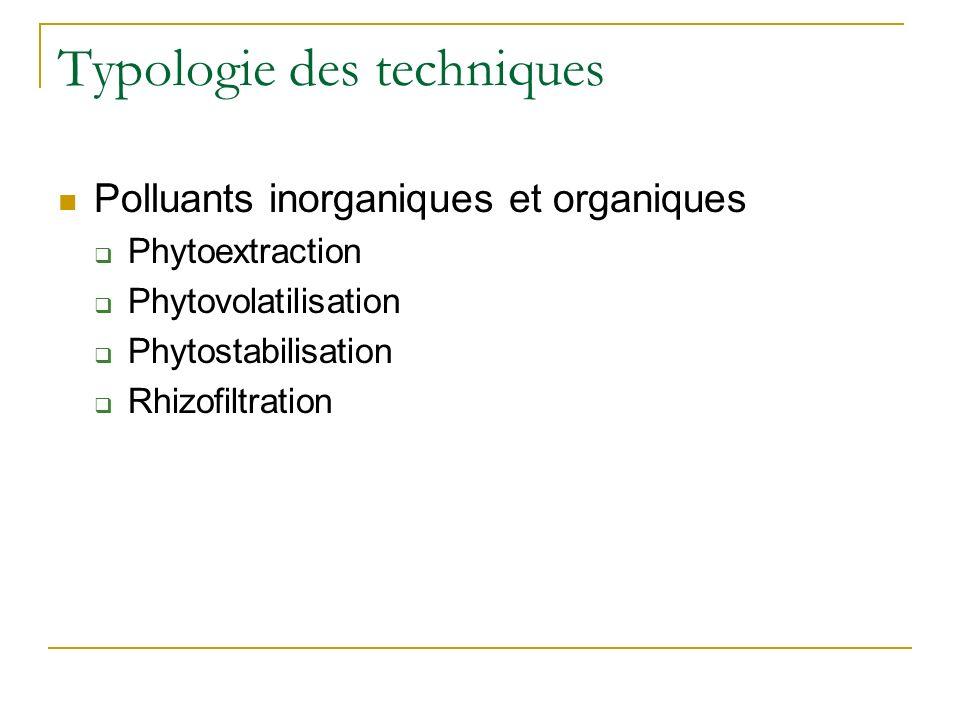 Aspects techniques essentiels associés à la phytoremédiation
