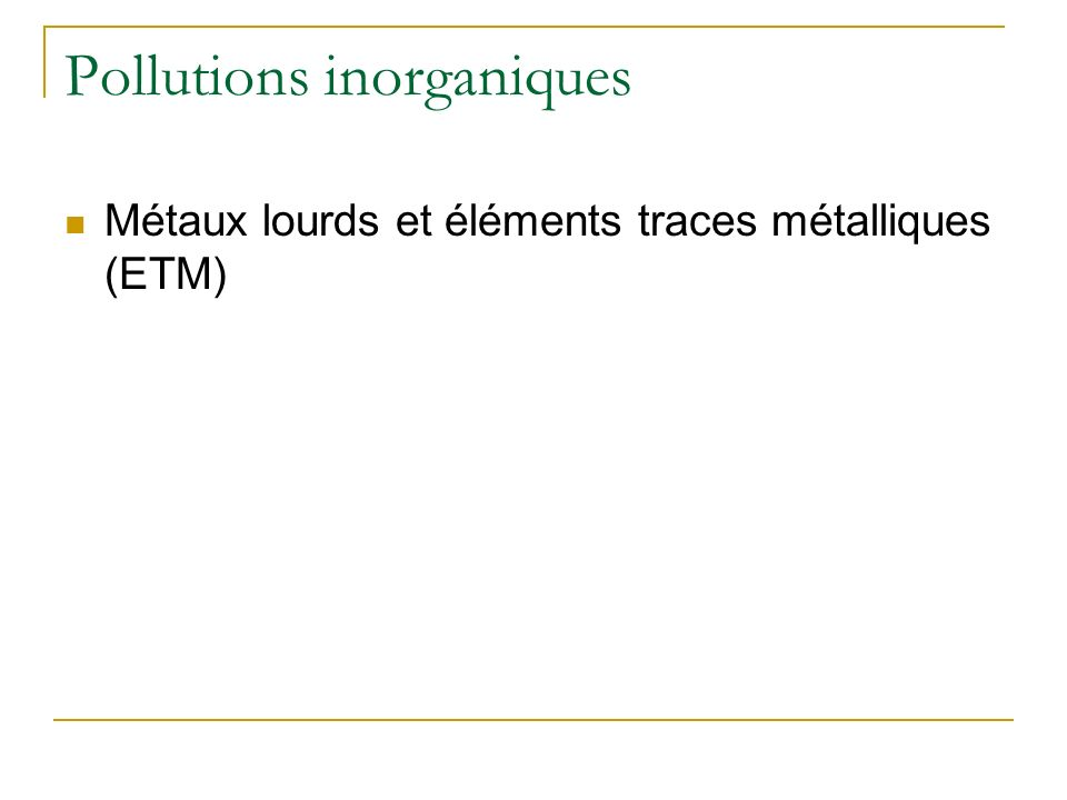 Pollutions par des macroéléments