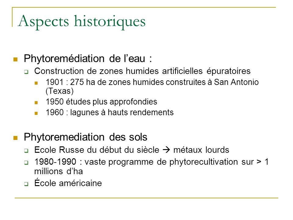 Définition Phytoremédiation = Utilisation de végétaux et de leurs microorganismes associés pour la dépollution de lenvironnement Dégradation et séques