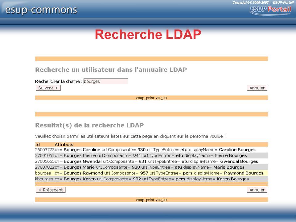 Copyright © 2006-2007 – ESUP-Portail Recherche LDAP