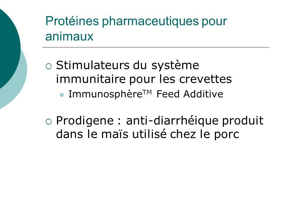 Protéines pharmaceutiques pour animaux Stimulateurs du système immunitaire pour les crevettes Immunosphère TM Feed Additive Prodigene : anti-diarrhéiq