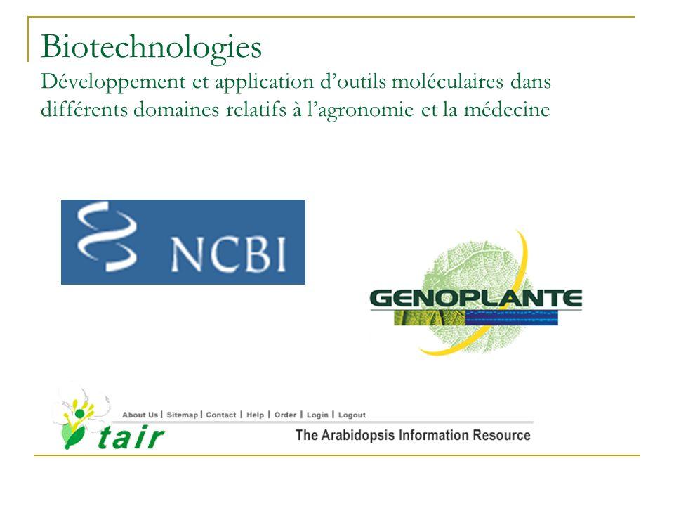 Programmes de génomique végétale Développement doutils « haut débit » Espèces modèles Extension des programmes à dautres espèces Objectif affiché : offrir aux semenciers de nouveaux outils damélioration, associés à des brevets Programmes de séquençage