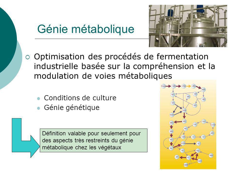 Génie métabolique chez les végétaux Utilisation de la transgenèse chez les plantes dans le cadre de démarches de génie métabolique www.imagesdepicardie.com