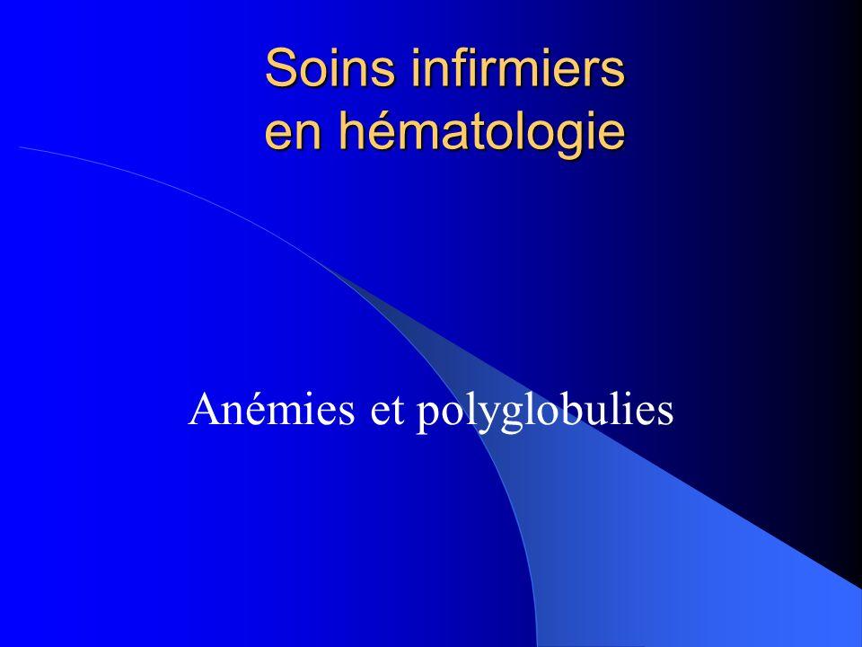 Soins infirmiers en hématologie Anémies et polyglobulies