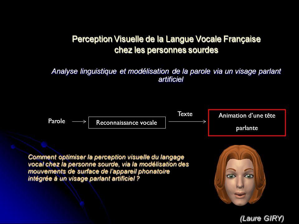 Perception Visuelle de la Langue Vocale Française chez les personnes sourdes Analyse linguistique et modélisation de la parole via un visage parlant a