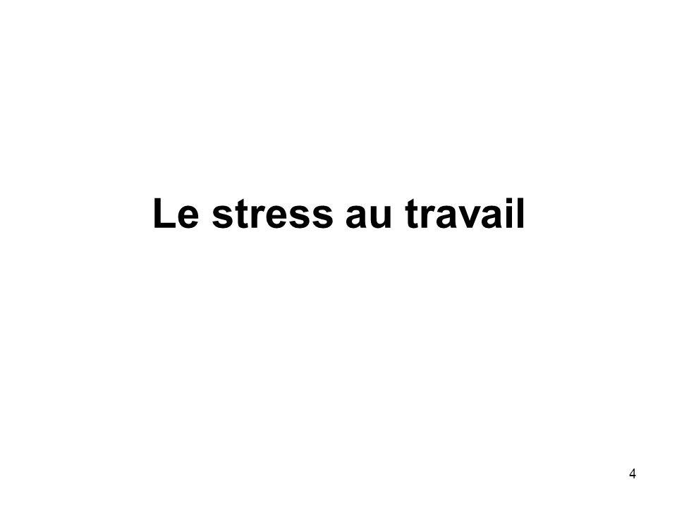4 Le stress au travail