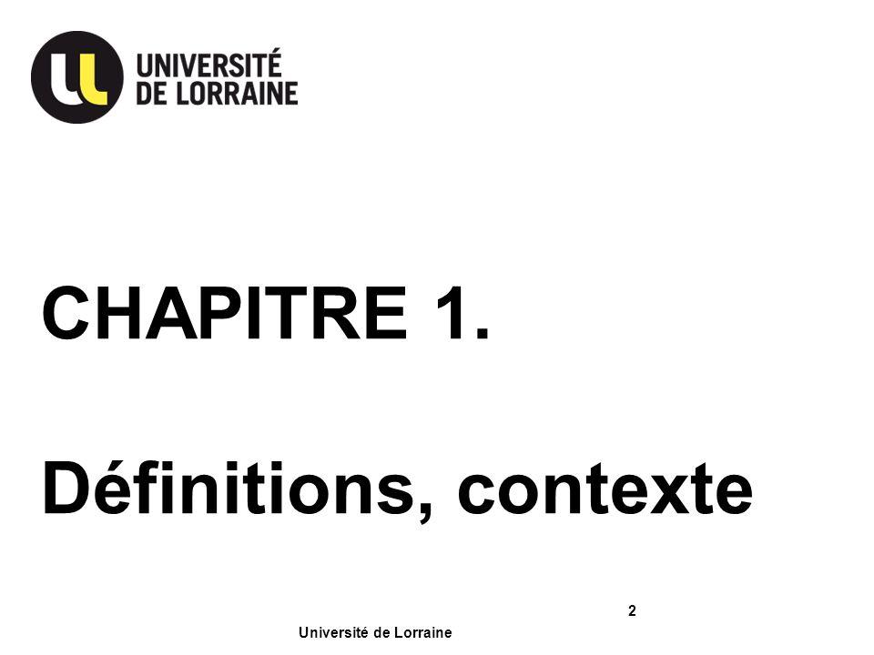 Page Université de Lorraine 1.1.Une ou des psychologie(s) .