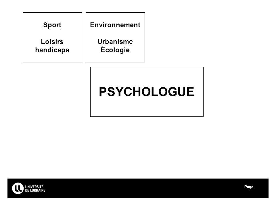 Page Université de Lorraine Environnement Urbanisme Écologie Sport Loisirs handicaps PSYCHOLOGUE 39
