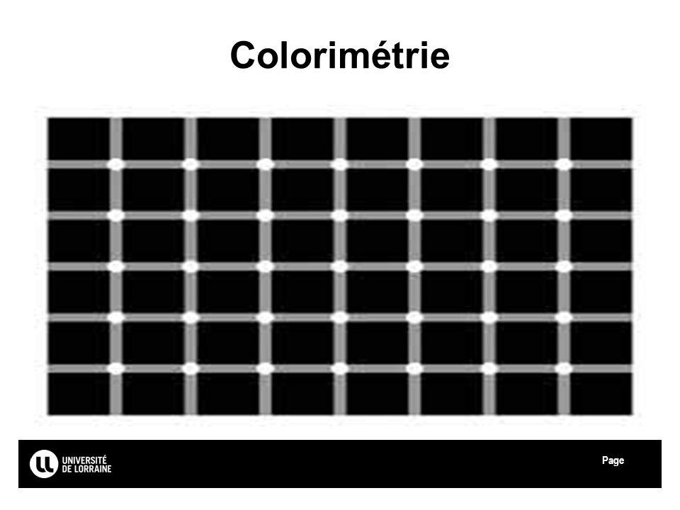 Page Colorimétrie
