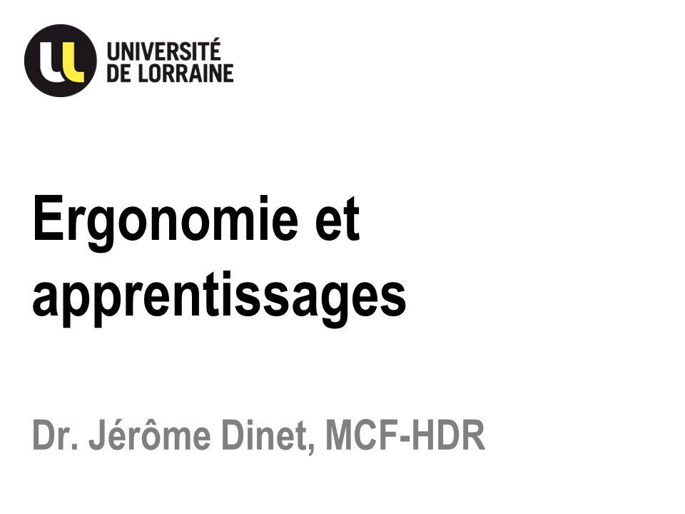 Dr. Jérôme Dinet, MCF-HDR Ergonomie et apprentissages