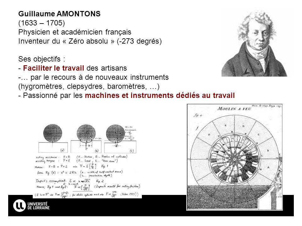 Page15 Guillaume AMONTONS (1633 – 1705) Physicien et académicien français Inventeur du « Zéro absolu » (-273 degrés) Ses objectifs : - Faciliter le tr