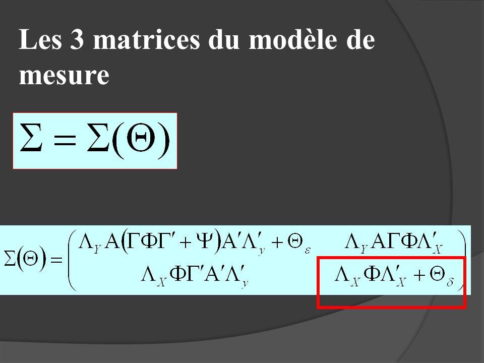 Les 3 matrices du modèle de mesure