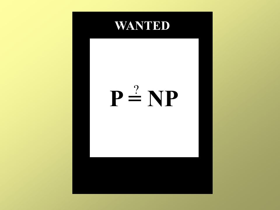 P = NP WANTED ?