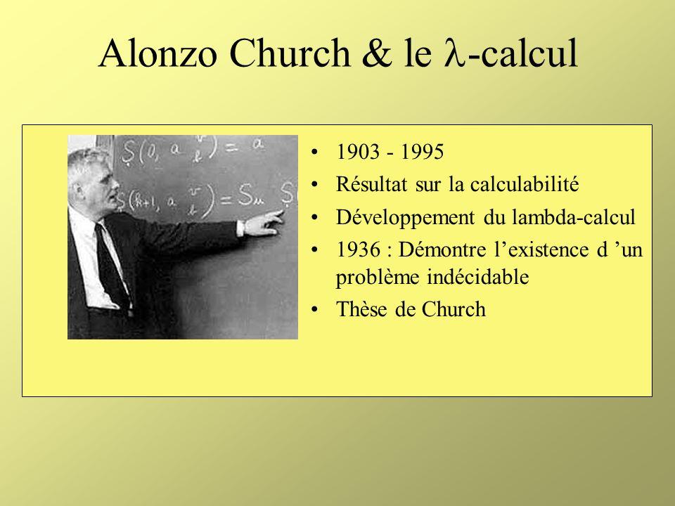 Kurt Godël 1906 - 1978 Théorème d Incomplétude « pour tout système formel S contenant le langage de l arithmétique, il existe une proposition G indémontrable dans S »