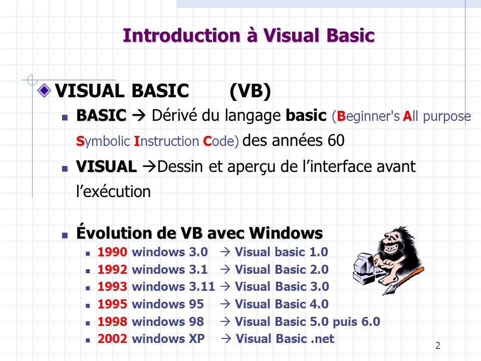 53 Introduction à Visual Basic Do Boucle DoDo instructions LoopWhile Loop While condition vrai