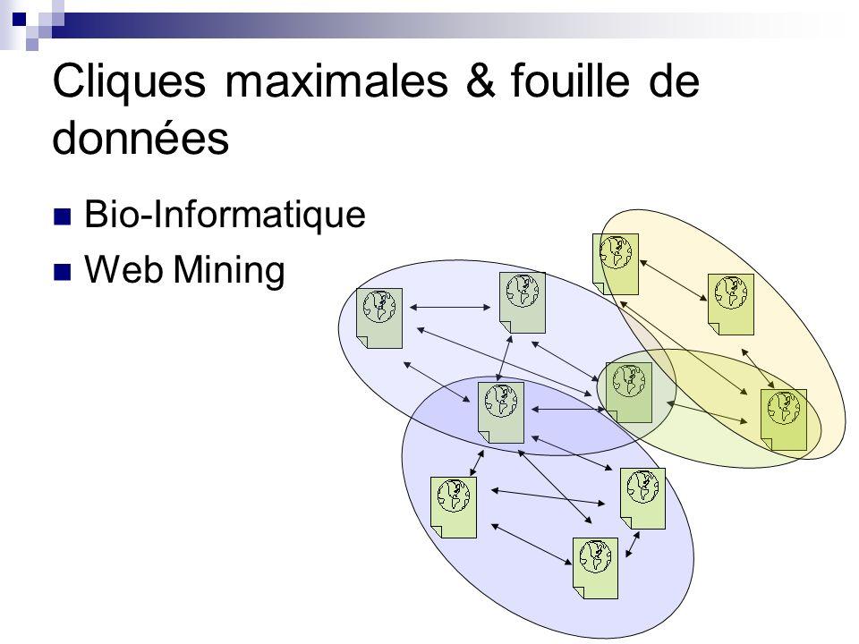 Bicliques maximales & fouille de données Itemset fermés (fréquent ou non) Utile pour les règles dimplications…