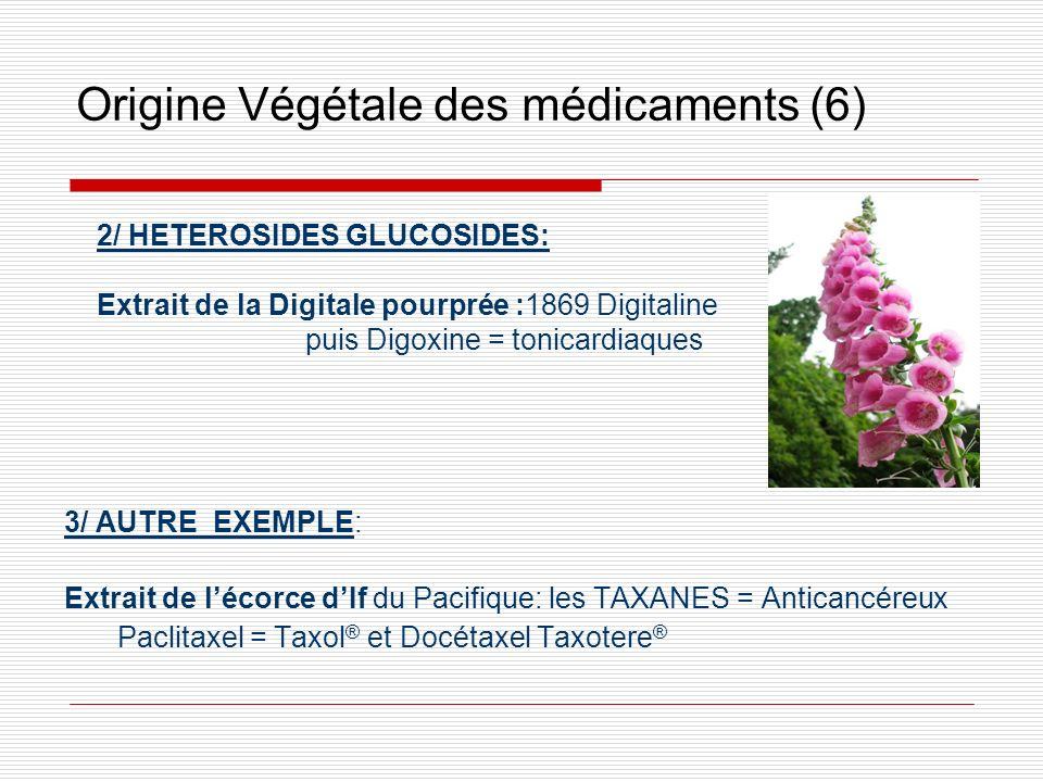 Origine Végétale des médicaments (6) 3/ AUTRE EXEMPLE: Extrait de lécorce dIf du Pacifique: les TAXANES = Anticancéreux Paclitaxel = Taxol ® et Docéta
