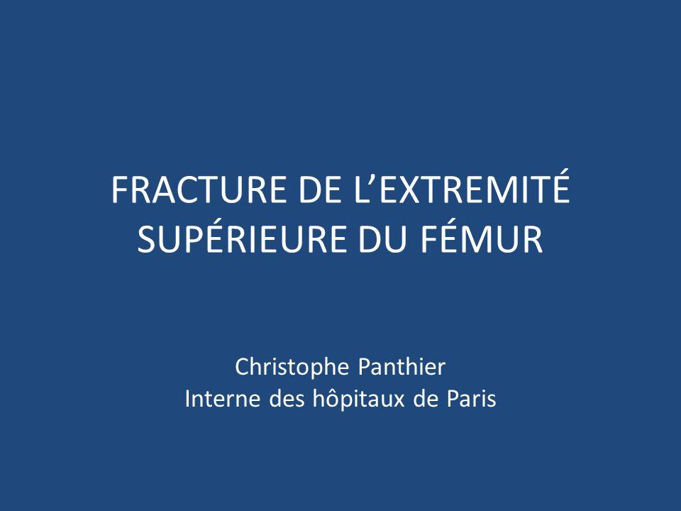 FRACTURE DE LEXTREMITÉ SUPÉRIEURE DU FÉMUR Christophe Panthier Interne des hôpitaux de Paris