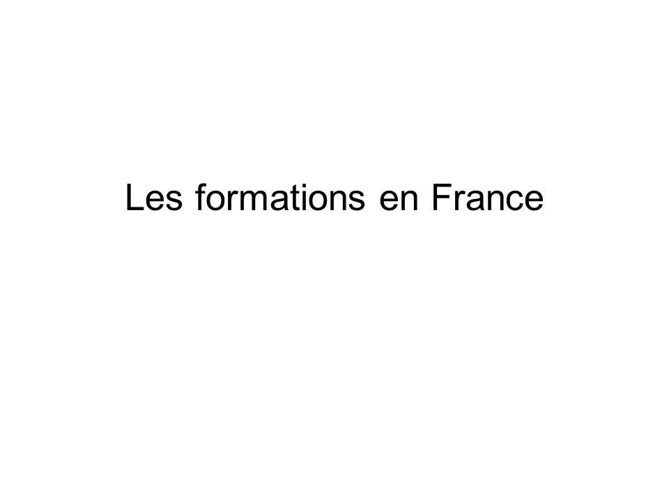 Les formations en France