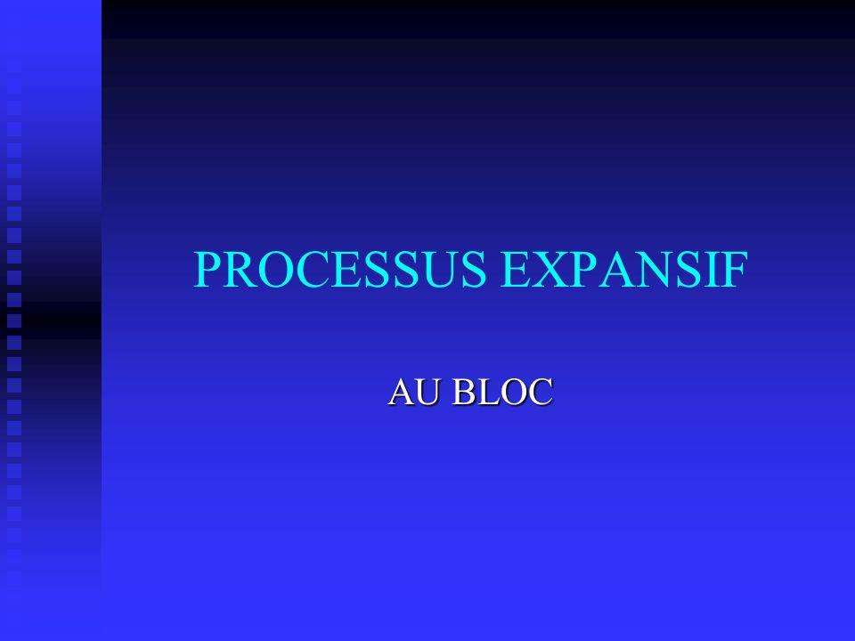 PROCESSUS EXPANSIF AU BLOC