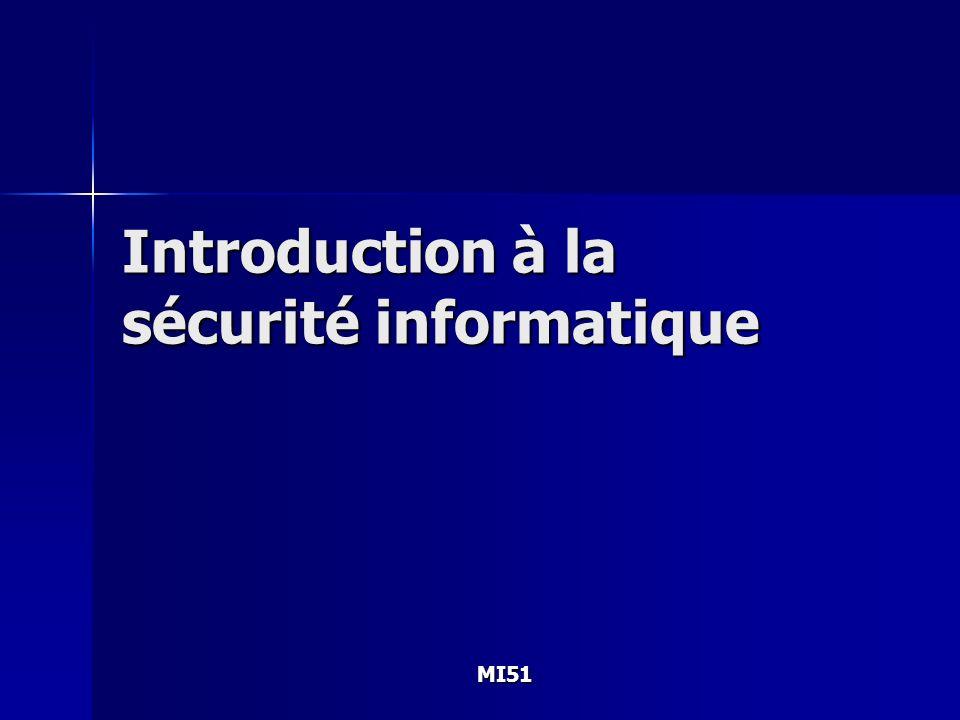 MI51 Introduction à la sécurité informatique