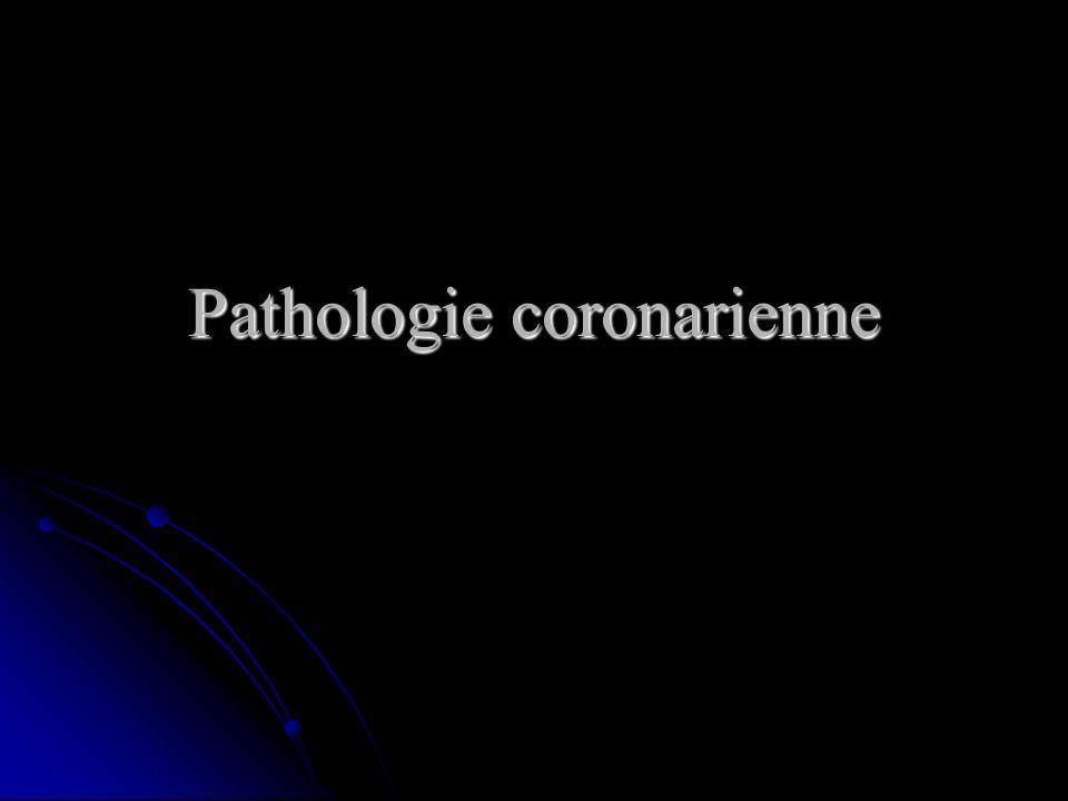 Pathologie coronarienne
